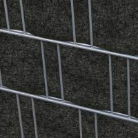 Milano (anthrazit) - Design Vlies Sichtschutz für Doppelstabmattenzaun