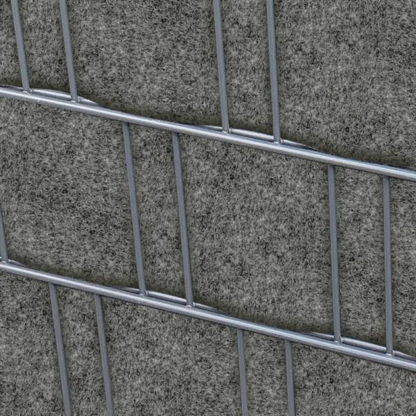 Florenz Grau Doppelstabmatten Sichtschutzstreifen Bedruckter