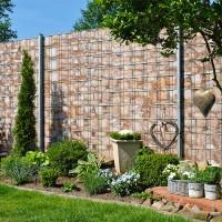 Sandstein Neutral - Bedruckter Sichtschutz Zaun im Garten
