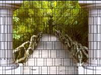 Thailand - Bedruckter Sichtschutz Streifen Rolle Doppelstabmatten Zaun