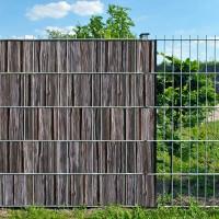 Holzbohle - Bedruckter Zaunstreifen für Doppelstab