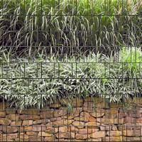 Steinmauer - Bedruckter Sichtschutz Streifen Rolle Doppelstab Zaun