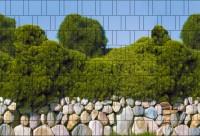 Mallorca - Bedruckter Zaunstreifen