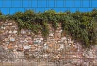 Kreta - Bedruckter Sichtschutz Streifen Rolle Doppelstab Zaun